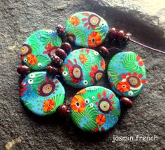 Jasmin French #lampwork #beads