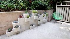 Cinder Block Patio Furniture | Cinder Block Planters from Traditionally Modern Designs