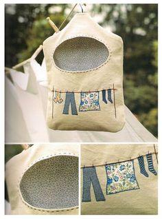 Bolsa de tela para pinzas de tender