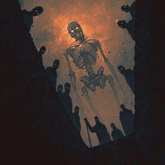 Arte Horror, Horror Art, Creepy Horror, Art Épouvante, Arte Peculiar, Art Ancien, Arte Obscura, Skeleton Art, Theme Halloween