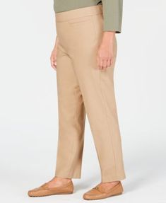 13572e7be1a40 Alfred Dunner Plus Size Classic Allure Tummy Control Pull-On Pants - Black  16WS