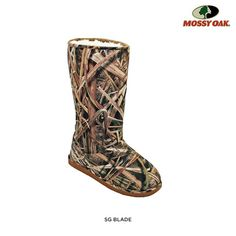 Dawgs Womens Mossy Oak Printed 13 Sherpa Boots - Assorted Styles at 44% Savings off Retail!