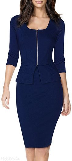 MIUSOL Square Neck Fitted Business Casual Bodycon Dress