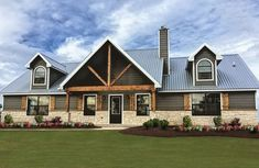 Metal Building Homes – For decades, metal buildings have been used as houses, not just . Read Most Inspiring Metal Building Homes Metal Barn Homes, Metal Building Homes, Pole Barn Homes, Building A House, Morton Building Homes, Building Ideas, Metal Pole Barns, Building Design, Pole Barn House Plans