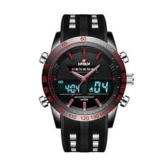 Mens Big Face Digital Analogue Sports Watches Men Waterproof LED Electronic  Military Digital Watch with Stopwatch