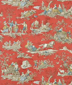 P. Kaufmann Four Seasons Crimson Fabric