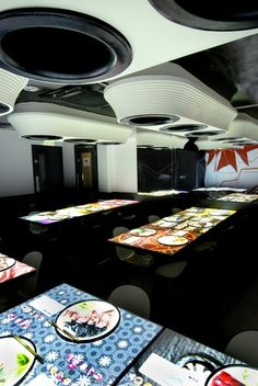 The interior of Inamo, designed by Blacksheep
