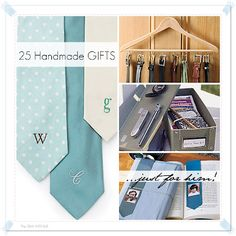 20 handmade gifts for MEN. My husband will LOVE the car kit and photo clock!