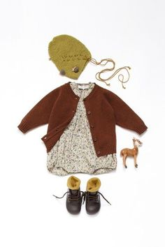 Churchill Romper in Fairford liberty print with lambswool cardi from Caramel baby and Child