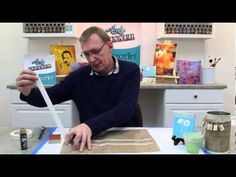 Andy Skinner : Stamping with Acrylics - YouTube