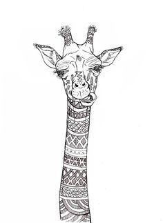 Sketches on Behance Dibujos Zentangle Art, Zentangle Drawings, Art Drawings Sketches, Animal Drawings, Animal Coloring Pages, Colouring Pages, Adult Coloring Pages, Coloring Books, Mandala Art