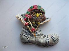Картина панно рисунок Лепка Повторюшные ботинки Тесто соленое фото 4