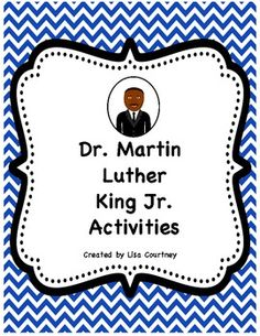 This packet includes a blank timeline, a completed timeline, a Martin Luther King Jr. Fact Sheet, I Have a Dream Writing Page, I Have a Dream Poster handout for students to create their own demonstration poster, 3 sample mini-posters, an Acrostic Poem, and a Martin Luther King Puzzle. $