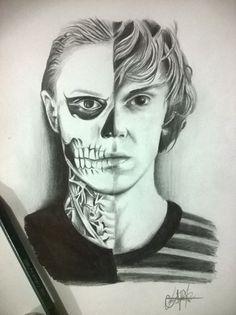 Tate langdon draw #american horror story #murder house