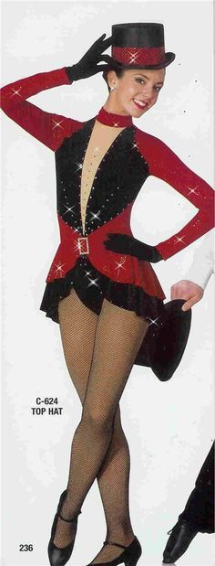 Tuxedo or Showgirl dance costume