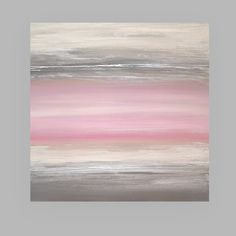"Pastel Acrylic Abstract Art Original Painting on Canvas Titled: Softly Spoken 30x30x1.5"" by Ora Birenbaum on Etsy, $315.00"