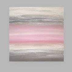 Dies ist ein original von einem freundlichen Anstrich auf gestreckten Galerie Leinwand Acryl Künstlers Ora Birenbaum.    Sehr weiche staubigen Pastellfarben Rosa und grau mit Einflüssen aus Taupe und staubige weiß. So weich und zart. Wäre schön in eine Nusery oder kleine Mädchen Zimmer. Es gibt Akzenten in metallic silber für zusätzliche Tiefe.    Dieses Bild wird hat eine sehr reiche schwere Textur und signiert, versiegelt und für einfache Display verkabelt werden. Seiten werden…