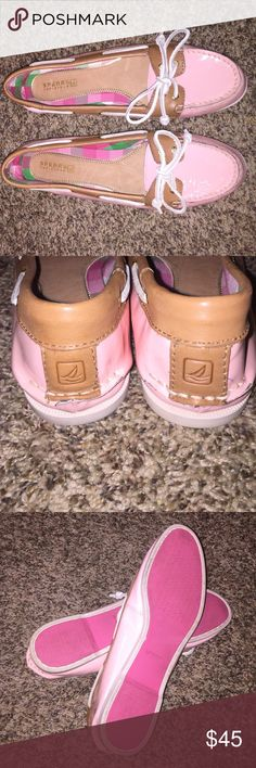 Adorable pink Sperrys!! Pink Sperrys! Hardly used! Great condition! Ready to be worn! Sperry Shoes Flats & Loafers