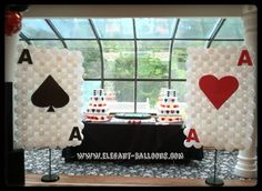 Casino Card balloon sculpture
