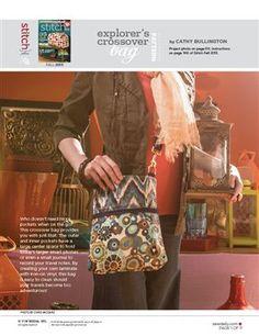 Pattern: Explorer's Crossover Bag - Media - Sew Daily