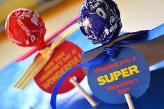 For next year:  Superhero valentines with printables #valentines #hero
