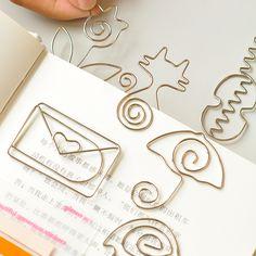 36 pcs/lot Kawaii cat flowers metal bookmarks for books Cartoon animal paper clips Korean stationery office School Supplies