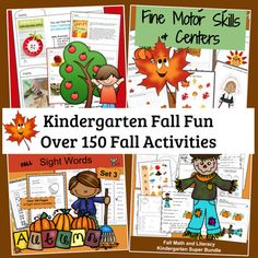 Kindergarten Fall Activities | Homeschool Kindergarten #Homeschoolkindergarten #homeschool #kindergarten