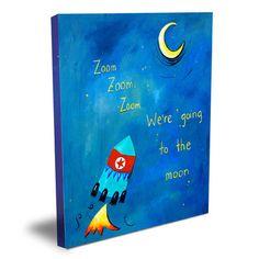 Cici Art Factory Words of Wisdom Zoom Zoom Zoom Canvas Art & Reviews | Wayfair