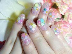 nail Cute Acrylic Nails, Cute Nails, Kawaii Nail Art, Angel Nails, Soft Nails, Girls Nails, Creative Nails, Mani Pedi, Nail Inspo