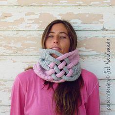 Cowl Scarf Knit Pattern PDF  Instant download