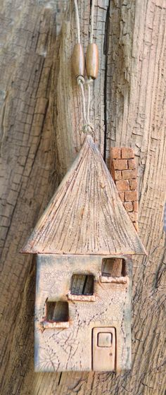 Ceramic House Wall Hanging Clay House House von PolymerPamE