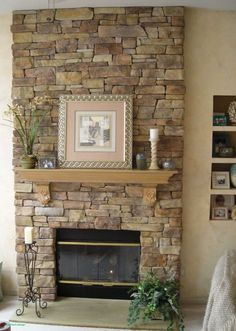 Stacked Stone Fireplace Pictures Design Interior Specializes In