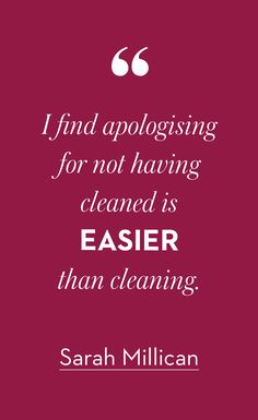 Cleaning tips from Boden via Sarah Millican. #Sorrynotsorry
