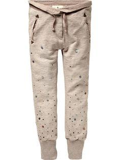 Little girl Special sweat pants - winter pink melange
