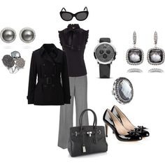 """Black and Grey"" by dcprepster on Polyvore"