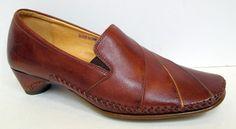Pikolinos Brown Leather Loafer Pump Size 36/US 5.5-6 EUC! #Pikolinos #PumpsClassics