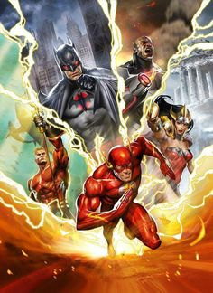DC Comic Book Artwork • The Justice League. Follow us for more awesome comic art, or check out our online store www.7ate9comics.com