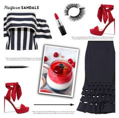 """Stand Up! Platform Sandals"" by irena123 ❤ liked on Polyvore featuring Dion Lee, Jimmy Choo, MAC Cosmetics, NARS Cosmetics, platforms, polyvorecontest and polyvorefashion"
