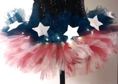 I Pledge Allegiance to the Light Up Tutu! Adding the little LED's create the firework effect, so you become the star of the show! Shine on tutu lover! #FBL http://www.flashingblinkylights.com/light-up-products/craft-lights/blinkies-round-leds.html