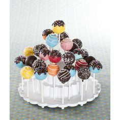 Nordic Ware Tiered Cake Pops Display Stand Image 2 of 2 Raspberry Smoothie, Apple Smoothies, Chocolates, Tapas, Cake Pop Displays, Cake Pop Stands, Zucchini Cake, Cupcakes, Tiered Stand