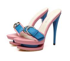 pink and light blue sandals @ http://trendy-stilettoheels.blogspot.com