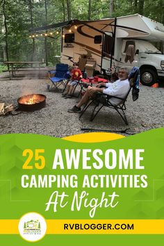 Camping activities don't have to stop when the sun goes down! If you're looking to enjoy your nighttime camping experience, here are awesome activities you can definitely do. Click to browse. Rainy Day Activities, Camping Activities, Diy Camping, Camping Hacks, Mouth Game, Music Collage, Deck Of Cards, Stargazing, Night Time
