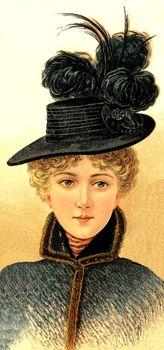Ladies Large Hat December 1896