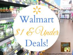 Walmart $1 & Under Deals list has been updated. Come see how to save!