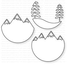 Papertrey Ink - Scene It: Mountain View Die: Papertrey Ink Clear Stamps Dies Paper Ink Kits Ribbon Felt Christmas, Christmas Crafts, Christmas Ornaments, 3d Cuts, Paper Art, Paper Crafts, Christmas Stencils, Scrapbook Supplies, Clear Stamps