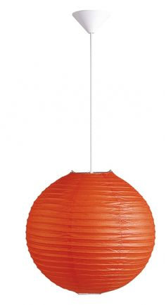 Rice - papierové svietidlo oranžové - so závesom - ø 300mm