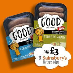 Don't forget The Good Little Company sausages are available in Sainsbury's Northern Ireland!  #GlutenFree #Delicious #sausages #local #produce #yummy #kid #friendly #reducedfat #dairyfree #food #SainsburysNI #DunnesStores #TescoNI #waitrose