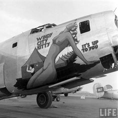 B-24, Windy City Kitty, awaiting its final destiny with the smelting process at Kingman Airport in Arizona, circa 1946