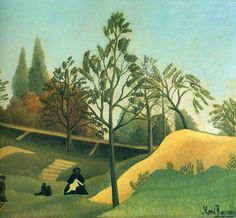 View of the Fortifications - Henri Rousseau