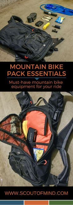 Mountain Bike Pack Essentials | Prepare yourself for trail-side hiccups by carrying some of the essential #mountain #bike tools with you on your ride | www.scoutofmind.com